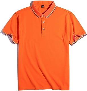UUGYE Mens Plain Sleeve Short Slim Stripe Fit Big & Tall T-shirt Polo