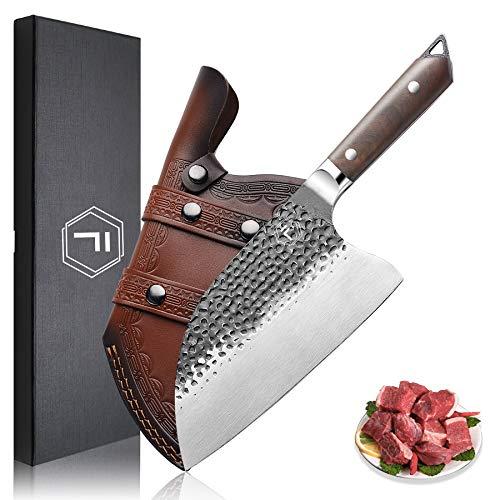 Cuchillo de Chef Cuchillo de Cocina 8'', FANTECK Chino Cuchillo de Chef Serbio, Cuchillo de Cuchilla, Cuchillo de Carnicero para Cocina y Restaurante