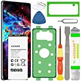 Galaxy Note 8 Battery Replacement, EB-BN950ABA EB-BN950ABE Battery for Samsung Galaxy Note 8 SM-N950 N950U/U1/A/T/P/V/R4/W/F with Tools+Back Cover Adhesive+Battery Adhesive+Installation Instruction