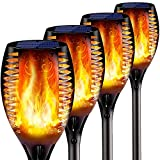 'N/A' Solar Lights Outdoor, Flickering Solar Torches for Fall&Halloween, Waterproof Festive Decoration&Romantic Landscape Torch Lights for Garden Pathway-Auto On/Off