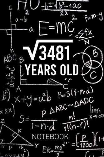 Square Root of 3481 Years Old Math Notebook: 59 Years Old Birthday Gift Idea | 3481 Square Root Math Note Taking Notebook | Blank Lined College ruled Journal