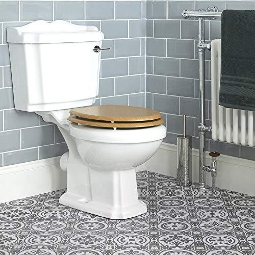 Hudson Reed Stand-WC Belmont - 2-teilige Toilette mit Spülkasten aus Keramik Inkl. Spülmechanismus - WC-Sitz inklusive
