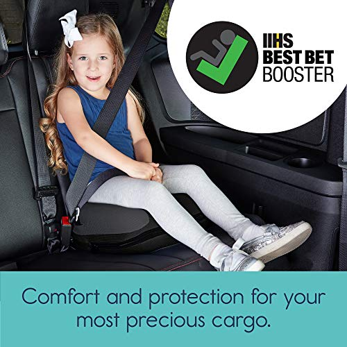 hiccapop UberBoost Inflatable Booster Car Seat | Blow up Narrow Backless Booster Car Seat for Travel | Portable Booster Seat for Toddlers, Kids, Child | Black/Gray