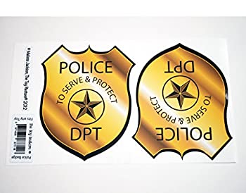 The Toy Restore Police Badge Replacement Decals Stickers Fits Little Tikes Cozy Coupe