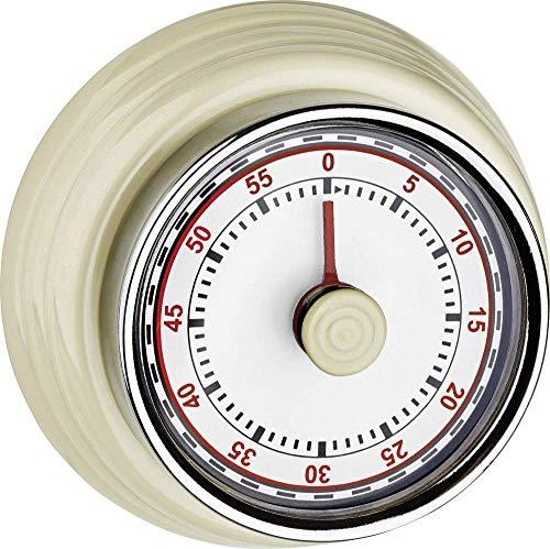 TFA Dostmann 38.1037.09 Küchen-Timer, Metall, Beige, 8 x 3 x 8 cm