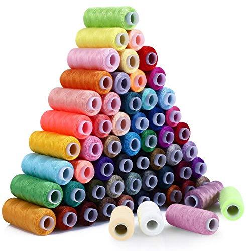 MINASAN Qualitäts-Nähgarn 250 Yard Rolle, 30 Farben, 100% Polyester | Allesnäher Universalgarn zum Hand- & Maschinennähen Overlock Stärken erhältlich (30 Farben, 250 Yard)