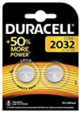 Duracell Specialty 2032 Lithium Coin Battery 3V, Pack of 2 (DL2032/CR2032) Designed for use in keyfobs, Scales, wearables and Medical Devices