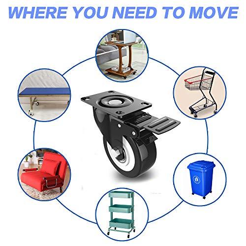 51EFMYn0CZL. SL500  - DOUYAO Ruedas para muebles,ruedas muebles,ruedas para palets,4 ruedas giratorias con función de frenado, ruedas de goma para muebles