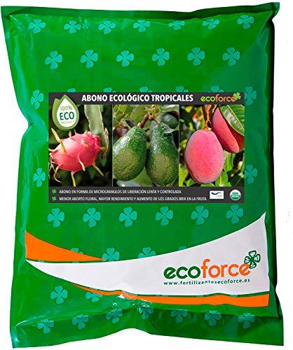 Cultivers ECO10F00153 Dünger, organischer Dünger, 5 kg, für tropische Pflanzen und Bäume, für Avocircado, Mango, Litchi, Pitahaya, Papaya und Guave, 100% natürlich