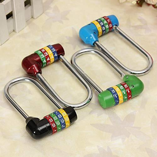 LZWOZ Long 4 cijfercombinatie Reiskoffer Bagage Code slot hangslot Beveiliging Kluis RVS Combinatie hangslot (Color : Green)