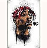 NOVELOVE Wandkunst Bild Tupac 2Pac Hip Hop Rapper Sänger