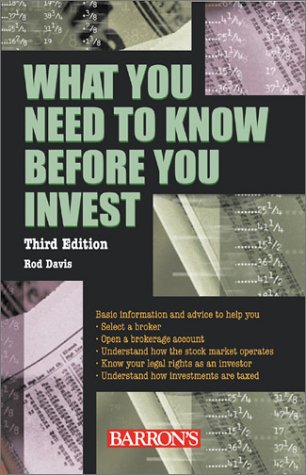Download What You Need to Know Before You Invest 0764124935