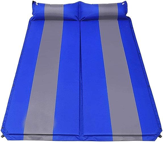 Rcd Matelas Auto-Gonflable de Couchage Double 188  136 cm d'épaisseur 10 cm Tente de Pique-Nique de Tente de Pliage Tapis résistant à l'humidité (Couleur   B)