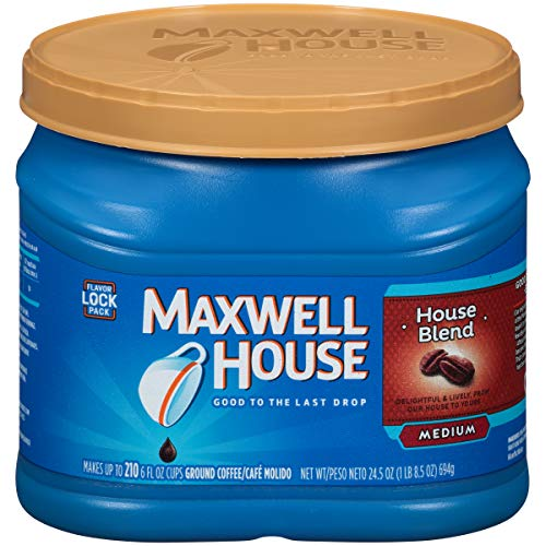 Maxwell House House Blend Medium Roast Ground Coffee (24.5 oz Canister)