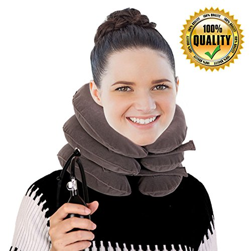 Discount for Close Shop - Buy it Now! Cervical Neck Traction Device by SAULLA - Fixed Neck and Shoulders - frees up Your Neck Pain  You Will Feel Effective in The First use