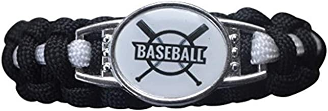 Infinity Collection Boys Baseball Bracelet, Baseball Jewelry, Adjustable Baseball Paracord for Kids, Perfect Baseball Gifts for Kids