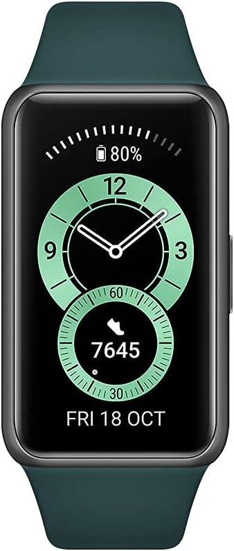 Huawei Band 6 - Pulsera de actividad con monitorización de Oxígeno en sangre (SpO2) 24horas, Pantalla FullView de 1.47 pulgadas, Batería para dos semanas, Análisis de frecuencia cardiaca