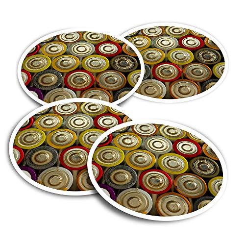 Pegatinas de vinilo (juego de 2) 10 cm – Retro Baterías Power Bank Fun Calcomanías para portátiles, tabletas, equipaje, reserva de chatarra #3084