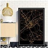 xiongda Murcia Spanien Schwarz & Gold Stadtkarten