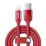 ESR Lightning Kabel Nylon 6.6ft/2M mit Band [Apple MFi Zertifiziert], für iPhone X, iPhone 8, 8...