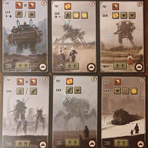 Stonemaier Games Scythe: Kickstarter Promotional Factory Cards #13-18