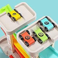 TOP BRIGHT Pista Macchinine per Bambini 1 2 Anni– Pista Auto da Corsa con 4 Mini Macchinine – Senza BPA, in Legno – Resistente e Sicura – Gioco Educativo Colorato e Divertente #5