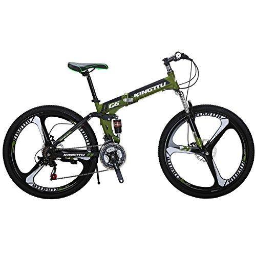 26 inch Mountain Bike G6 Folding Bike Adult Bikes Suspension Bicycle Double disc Brake Bike