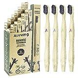 Aurumg Cepillo Dientes Bambú ergonómico Paquete...
