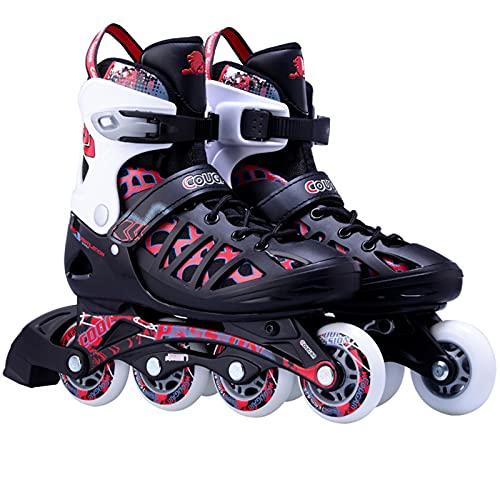 XINAYUEJP Roller Skates Kids, Inline Skates Kinder, Verstellbare Inline-Skates, Bequem Atmungsaktiv, Stumm, 82a Rollen ABEC 7 Chrome Kugellager, FüR Outdoor Und Indoor Unisex