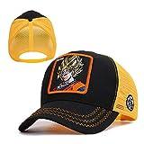 sdssup Gorra de béisbol con Bordado de Animales de la Serie Shark Visor Truck Net Cap New Black and Orange - Goku Adjustable
