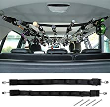 Dr.Fish Vehicle Fishing 7 Rod Reel Combos Holder Heavy Duty Car Rod Saver Metal Clamp Fishing Pole Rack Belt Strap Carrier for SUVs W Vans