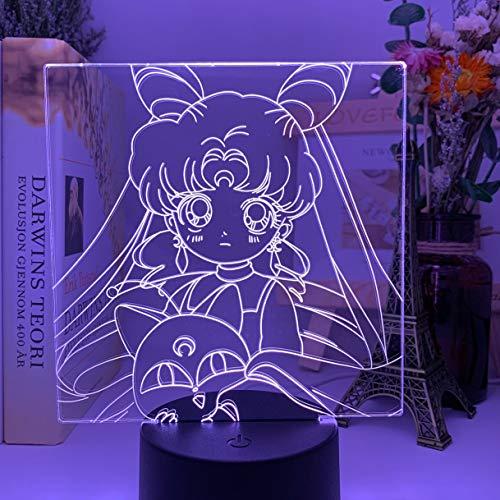 3D acrílico óptico conduziu a luz da noite copo de café Modelo colorido candeeiro de mesa para Loja decoração Legal Gadgets escritório casa luz decorativa 16 Color con control remoto