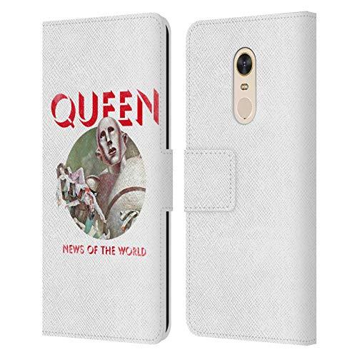 Head Case Designs Oficial Queen Noticias del Mundo Arte Clave Carcasa de Cuero Tipo Libro Compatible con Xiaomi Redmi 5 Plus