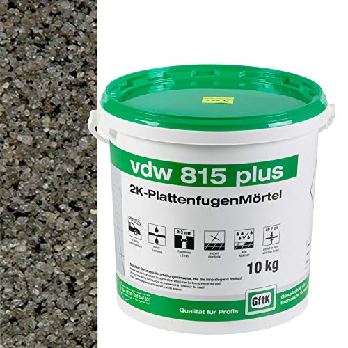 vdw 815 plus 2K-Fugenmörtel 10kg Steingrau
