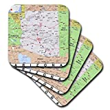 3dRose CST_184554_1 Print of Arizon a Cities and State Map Soft Coasters (Set of 4)