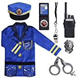 Sepco Police Officer Costume for Kids Role Play Kit with Cop Dress Up Costume Accessories, Ages 3-6 yrs Blue