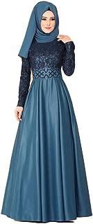 Female Robe Bangladesh Dubai Abayas for Women Hijab Evening Dress Arabic Caftan Moroccan Kaftan Djelaba Muslim Dress Islamic Clothing (Color : Light Blue, Size : XXXXXL)