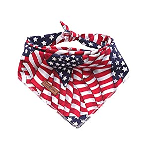 Lionet Paws Dog Bandana for Small Medium Large Dogs, Cat Dog Kerchief Dog Triangle Bibs Scarf for Girl or Boy