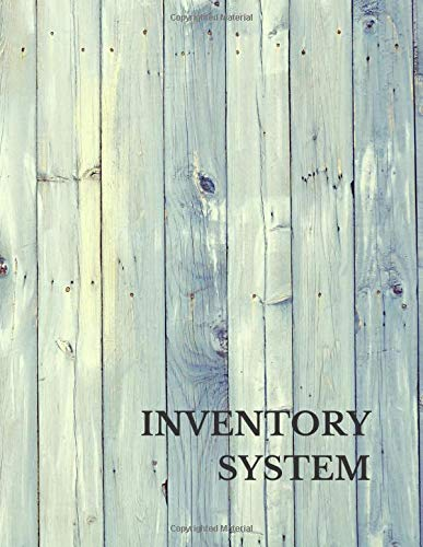 Inventory System: Large 8.5 Inches By 11 Inches