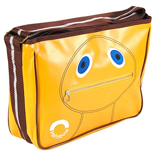 Official Zippy Bag. Rainbow Satchel Bag with large top zip and adjustable strap - a real head turner!