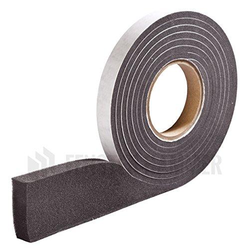 HANNOBAND BG1 Kompriband 10/2-4 Fugendichtband 600 Pa Quellband Fensterband Fugenband - 10m Rolle, grau