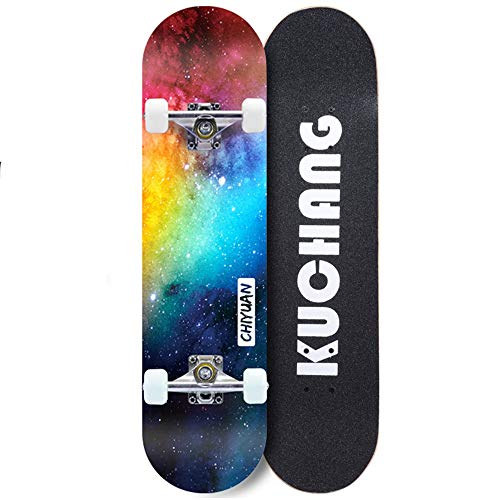 LJHBC Skate Longboard Cruiser 31.5 Pulgadas Arce de 7 Capas Patineta for Adultos Rodamiento ABEC-7 Skate Profesional for Principiantes Niño cumpleaños Presente Chico Chica (Color : #3)