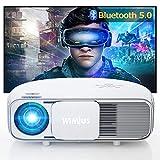 WiMiUS プロジェクター 7500ルーメン Bluetooth機能搭載 リアル1080P解像度 4K対応 台形補正 ズーム機能 USB/HDMI/AV/VGA対応 SWITCH/パソコン/IOS/Android/DVDなど接続可能