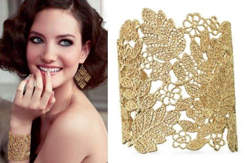 Stella & Dot Chantilly Lace Chandelier Earrings Chandelier Cuff Chandelier Ring Sets