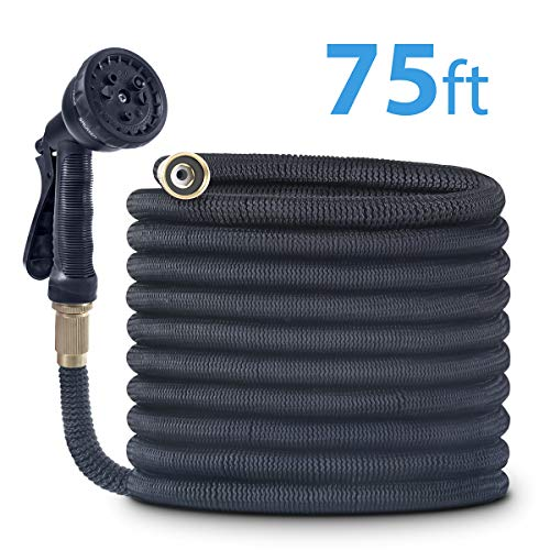 CACAGOO Garden Hose, 75 FT Lightweight Water Hose, 3/4' Solid Brass Connector, Durable Flexible Hose for Watering, Washing