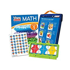 Includes 42-star stickers, 1 Versatile answer case, and 64 pages Versatile math practice book grade 1 Each page in the workbook provides a new problem example that children can explore, practice, solve, and self-check with the Versatile answer case T...
