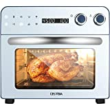 OSTBA Air Fryer Toaster Oven Combo 8-in-1 Digital Air Fryer Oven with Rotisserie and Dehydrator, 1700W Double Glass Convection Toaster Oven for Air Fry/Broil/Roast/Bake/Dehydrate/Rotisserie, 24QT/23L, 6 Accessories and 100 Recipes Cookbook