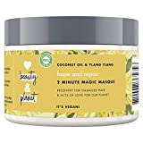 Love Beauty & Planet Masque Cheveux Vegan Réparateur Oasis Nourrissante, Huile de Coco Bio et Fleur d'Ylang Ylang, Cheveux Abîmés Certifié Vegan 300ml
