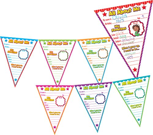Teacher Created Resources All About Me Pennants Bulletin Board (5578)