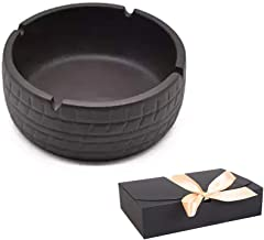 Veizn Environmental Ashtray, Chinese Craft, Made of Purple Sand Porcelain, Windproof Ashtray, can be Placed in The Living Room and Office, Gift Box Packaging can be Used as a Gift